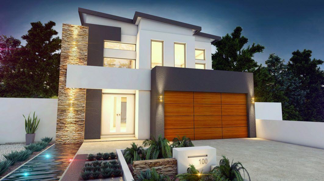 Planos de casas de dos pisos modernas descubre c mo - Materiales de construccion para fachadas ...
