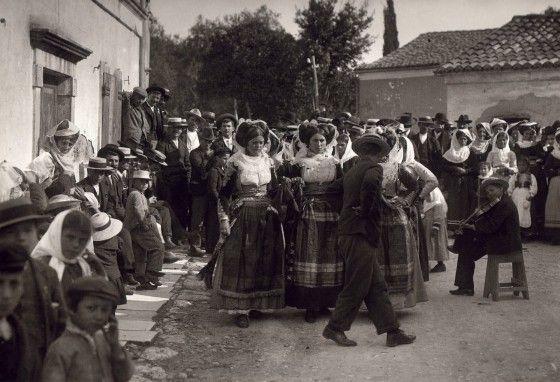 A celebration in Gastouri Corfu 1903