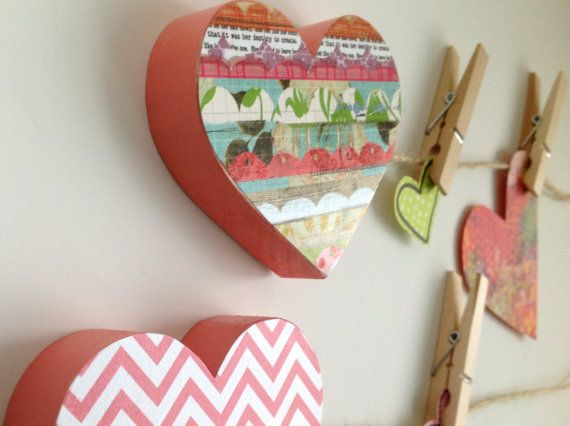 Coração Art exibição Clips Colorido
