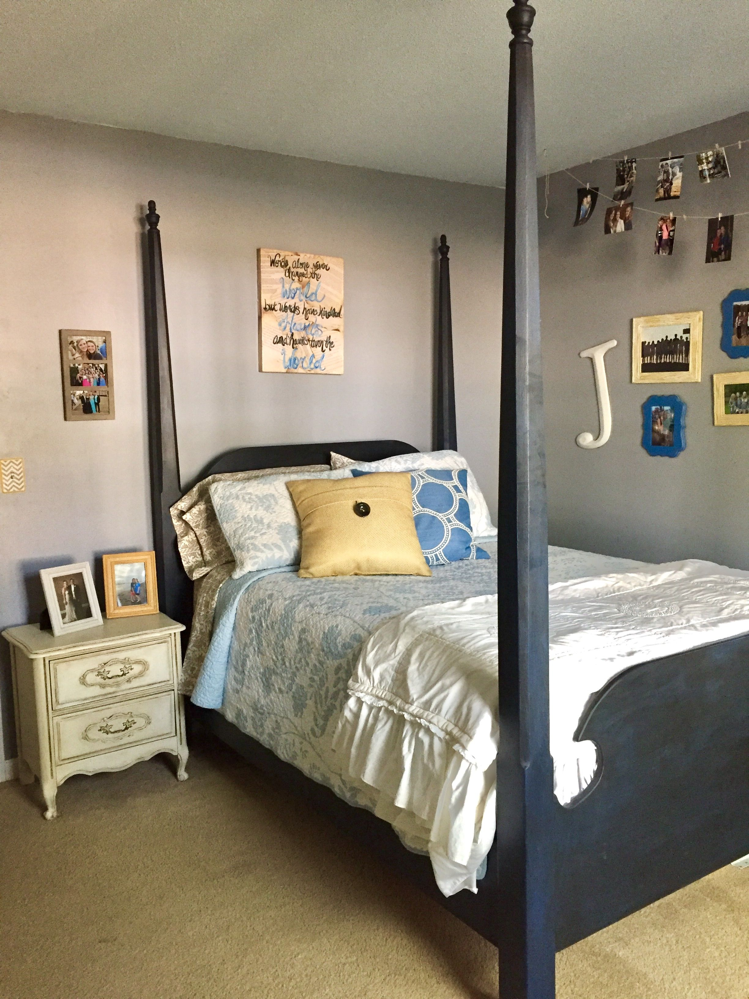 bedroom poster bed in annie sloan chalk paint napoleonic
