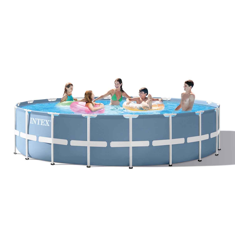 Intex 18ft X 48in Prism Frame Pool Set With Filter Pump Walmart Com Pool Liners In Ground Pools Intex Pool