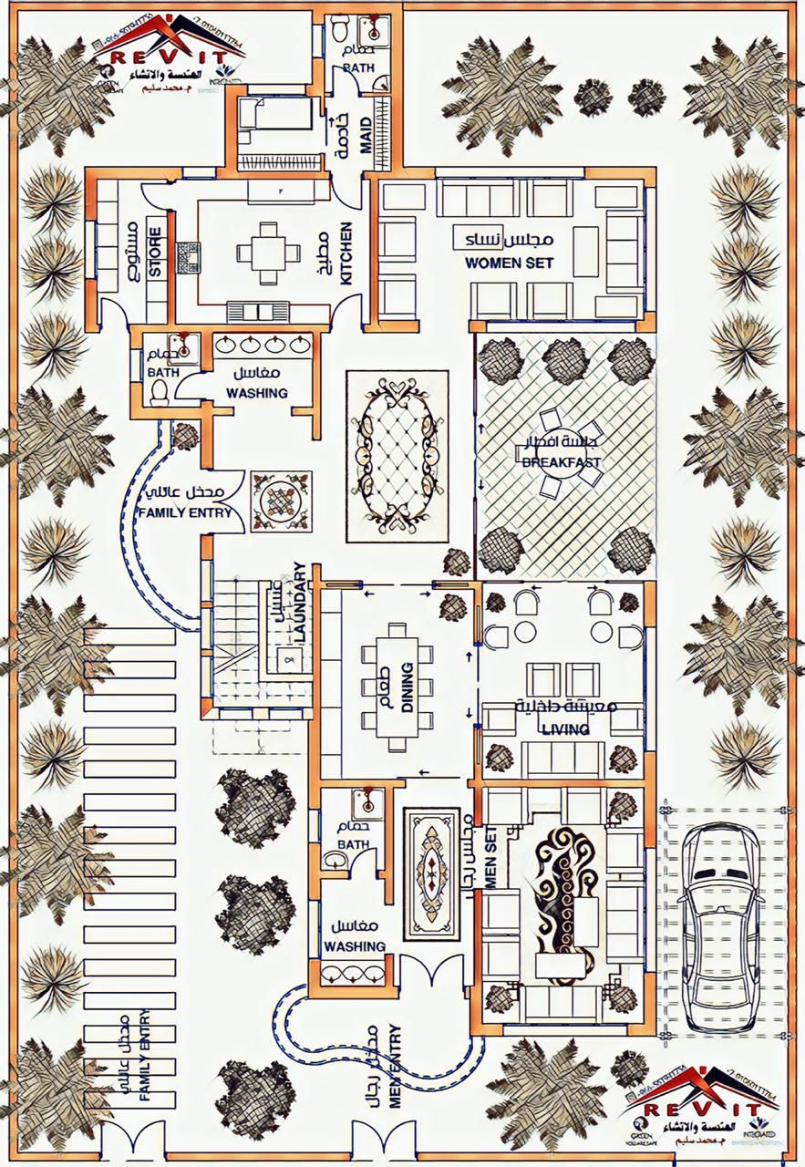 فيلا سعودي Model House Plan Unique House Plans Building Plans House