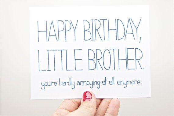 Funny Birthday Card Birthday Card For Brother Brother Birthday