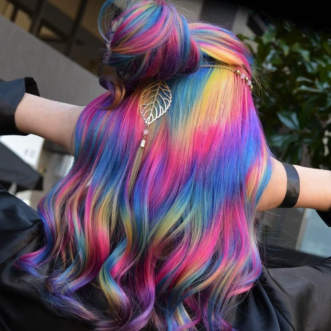 Image May Contain One Or More People Fantasy Hair Color Pretty