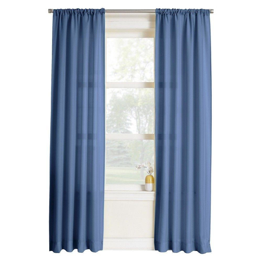 Layne Heathered Solid Curtain Panel Shtory Interer