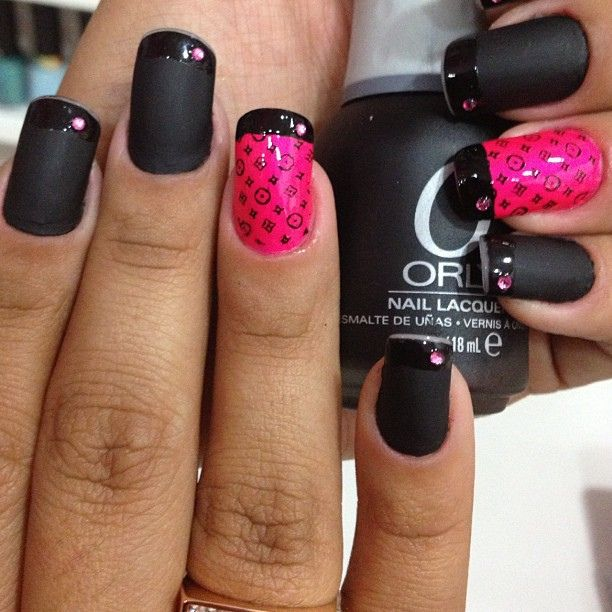 Preto fosco e rosa luxo!!!