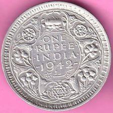 British India 1942 Bombay Mint One Rupee King George Vi Rarest Silver Coin 77 King George Silver Coins Coins