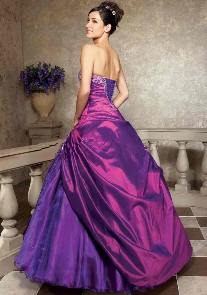 Images Of Purple Wedding Dresses Dr