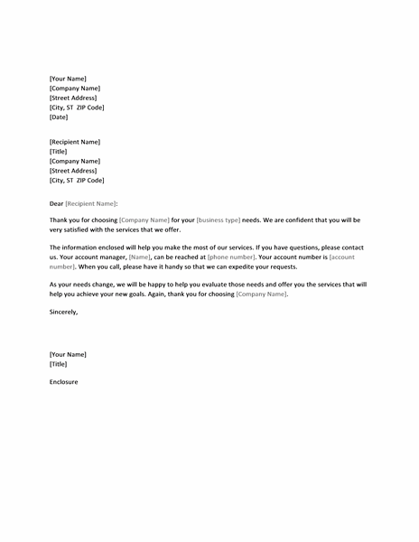 Introductory letter to new client - Templates