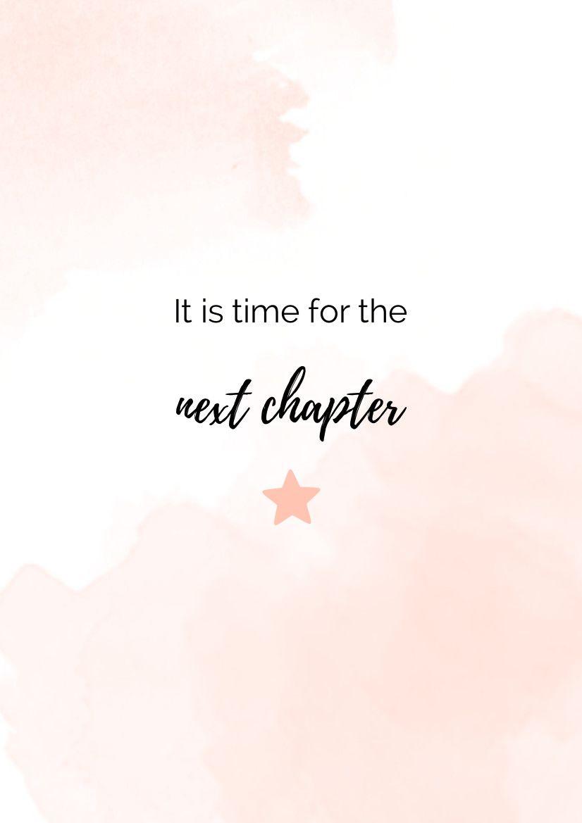 Es tiempo para el siguiente capítulo
