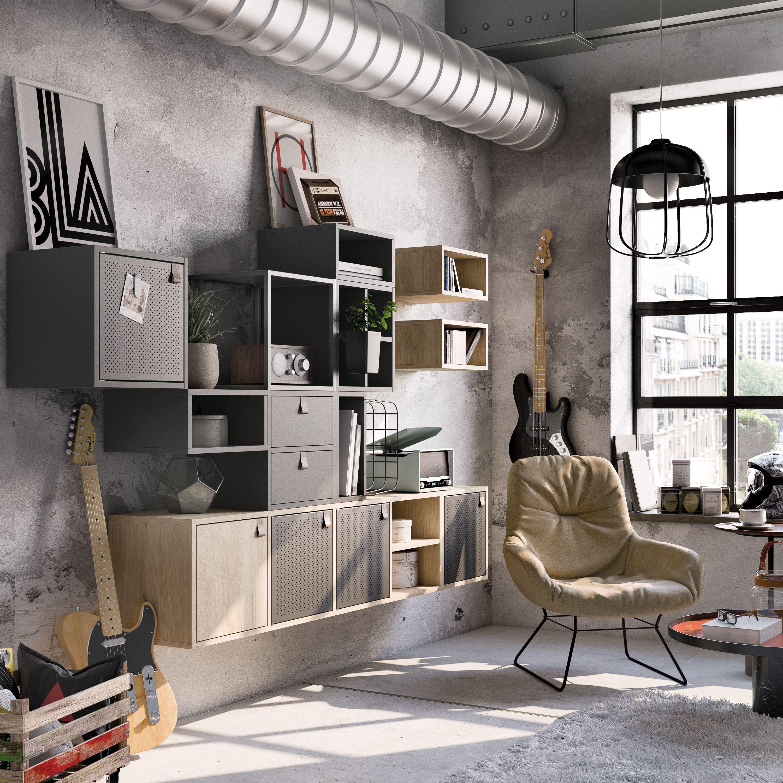 Spaceo Kub Leroy Merlin Rangement Cube Kub Modularite Industrial Salon Living Room Decoration Interieure Meuble Rangement Mobilier De Salon