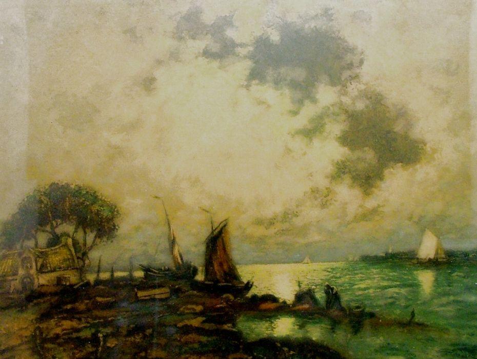 CHEBAN Héran (1887-1939): Na pobřeží.