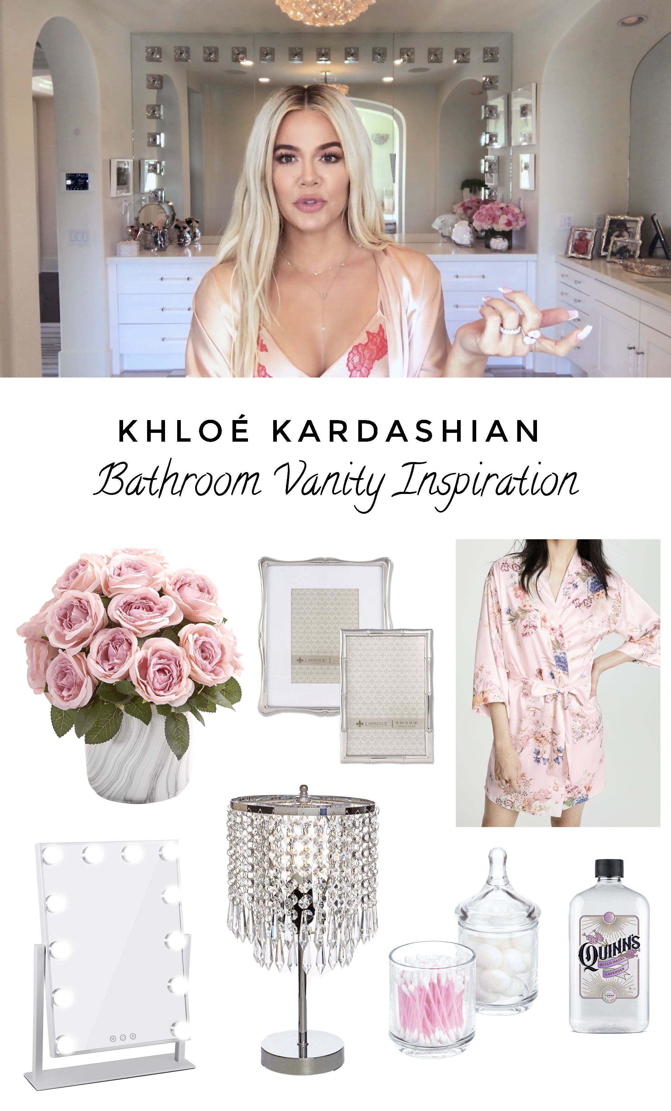 Khloé Kardashian Glamorous Bathroom Vanity
