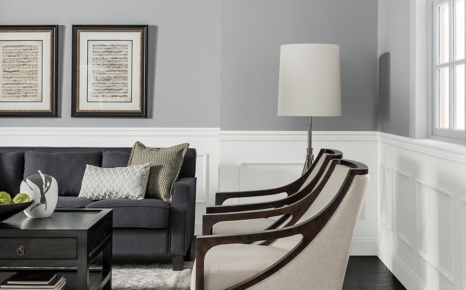 Glidden Granite Grey Upstairs Family Room Hallways Kitchen