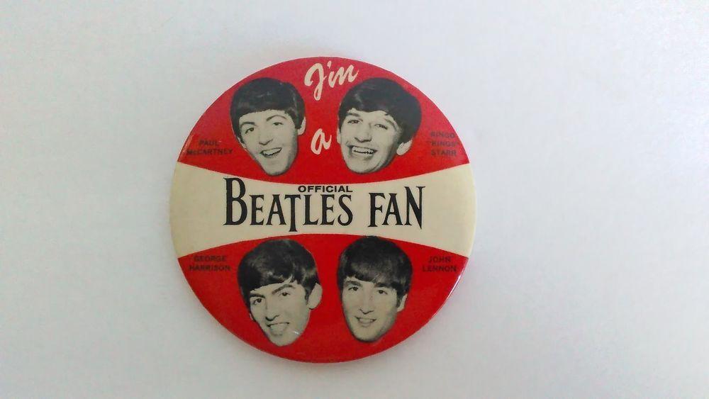 Beatles Fans! Authentic Vintage Beatlemania Badge!