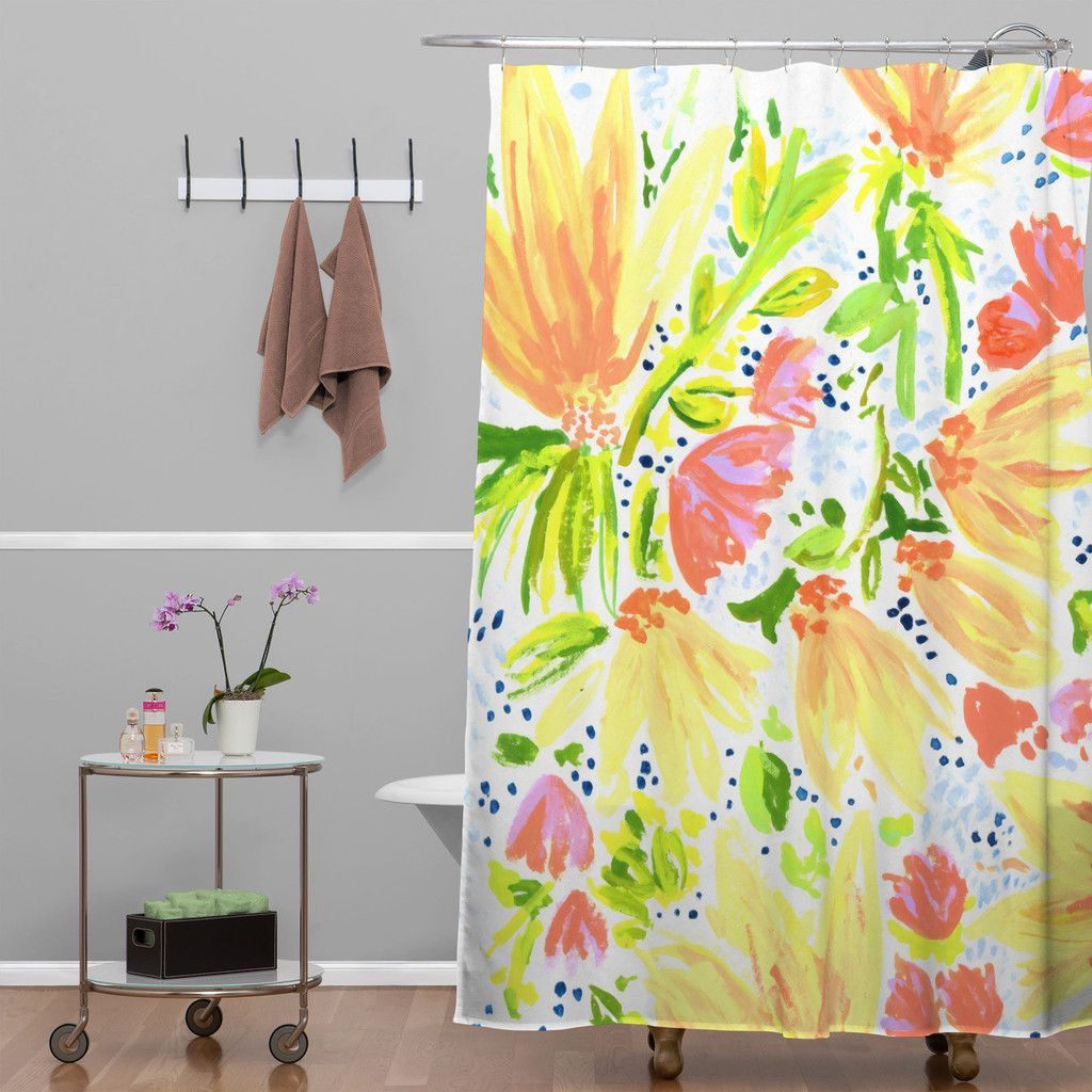 Joy Laforme Orange Blossom Shower Curtain | Casa | Pinterest ...