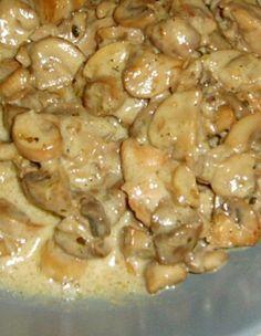 Kremalı Tavuklu Mantar
