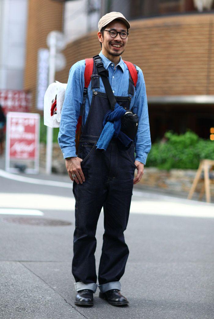 5c2d6fea07a60 Tokyo Denim + Overalls   Street Fashion   Street Peeper   Global Street  Fashion and Street Style