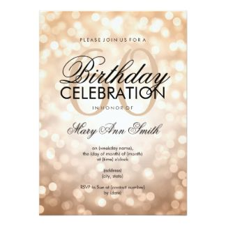 Elegant 60th Birthday Party Invitation Card 60th Birthday