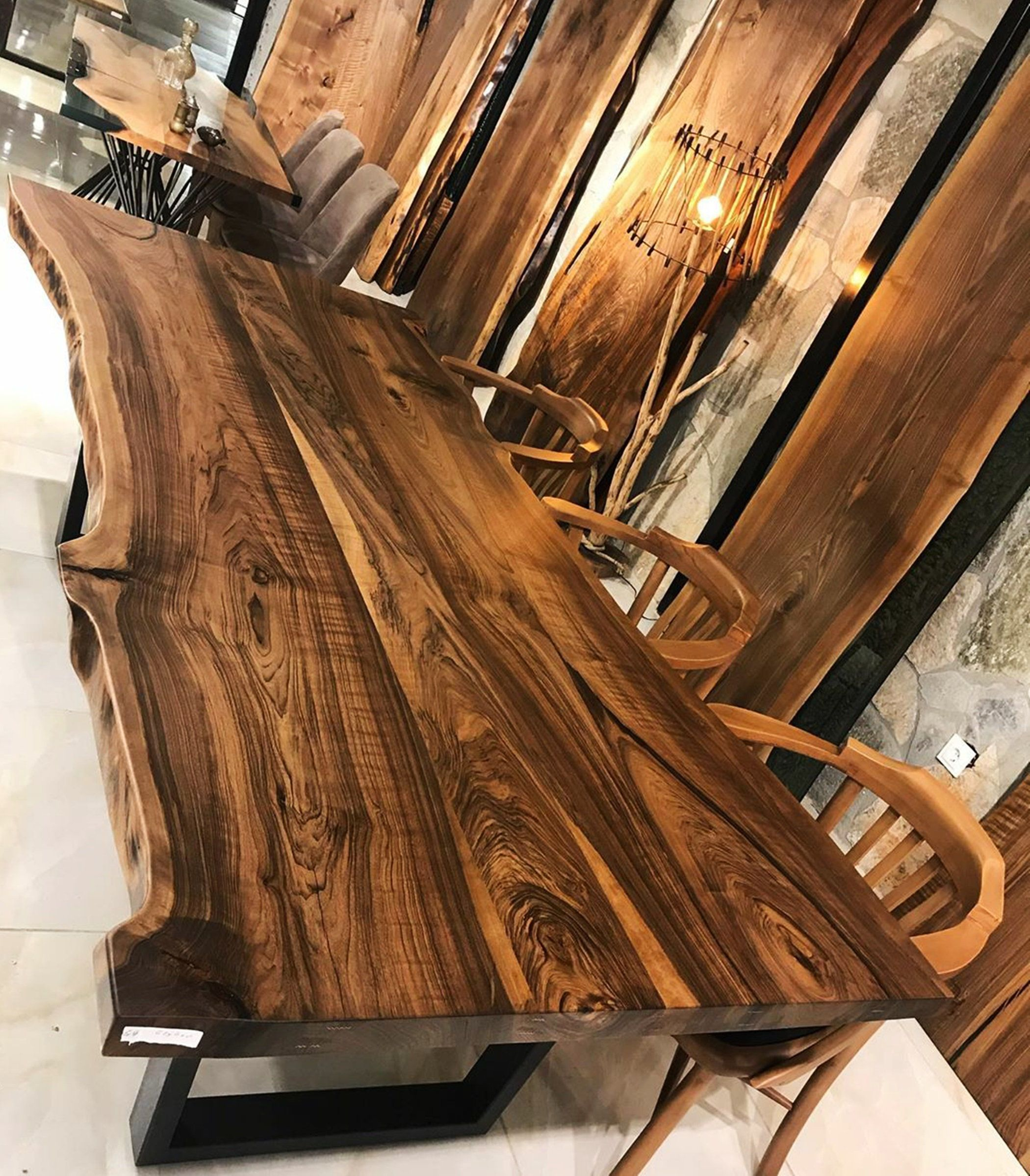 Live Edge Dining Table, Custom Dining Table, Conference Table, Live Edge Walnut Desk, Office Table, Counter height table