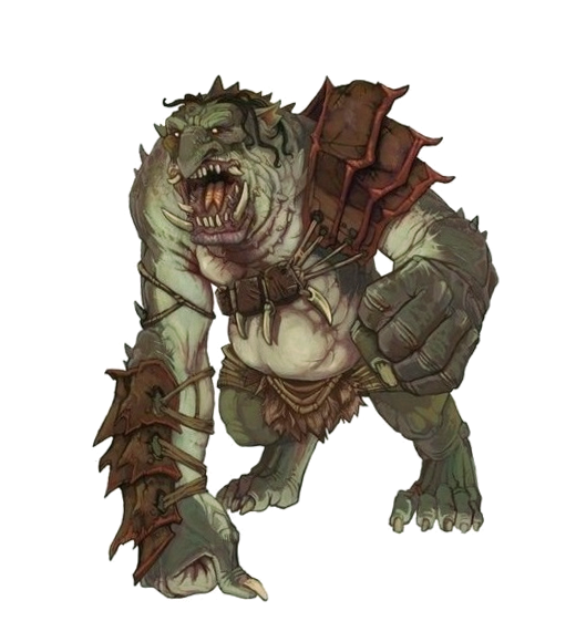 Troll Alpha Male Barbarian - Pathfinder PFRPG DND D&D 3 5 5E