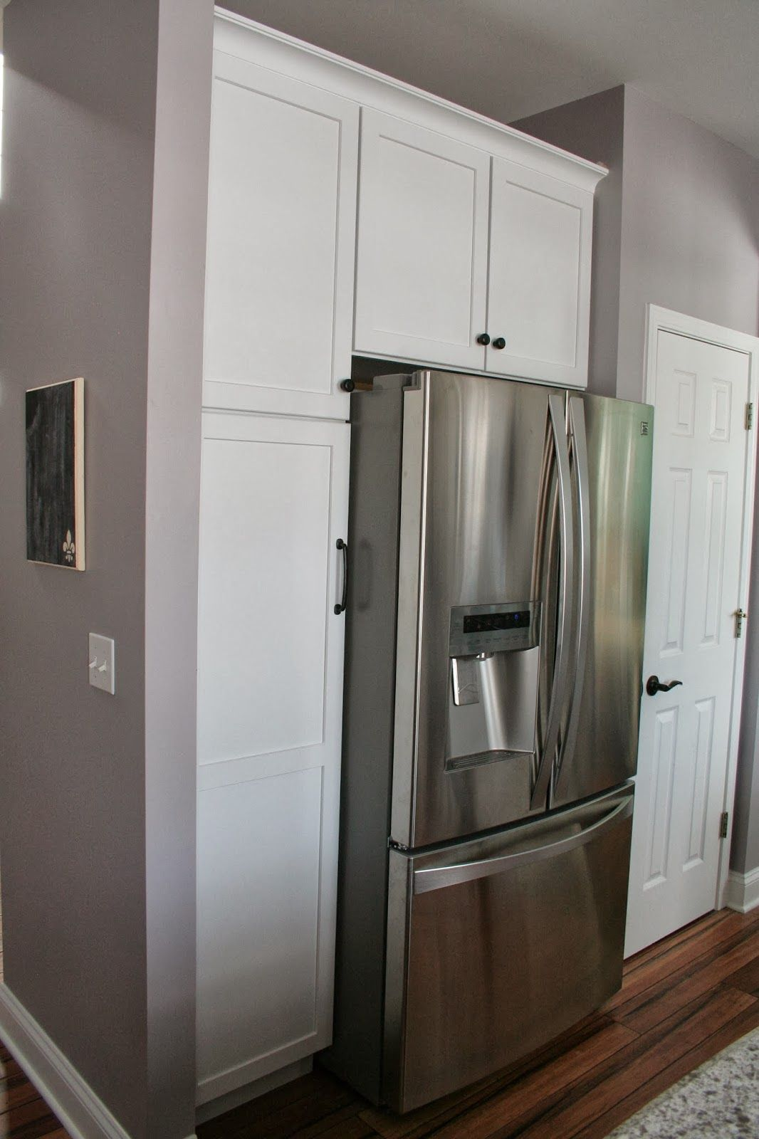 Kitchen Cabinets Around Refrigerator Pantry Surround For Around The Refrigerator Pretty
