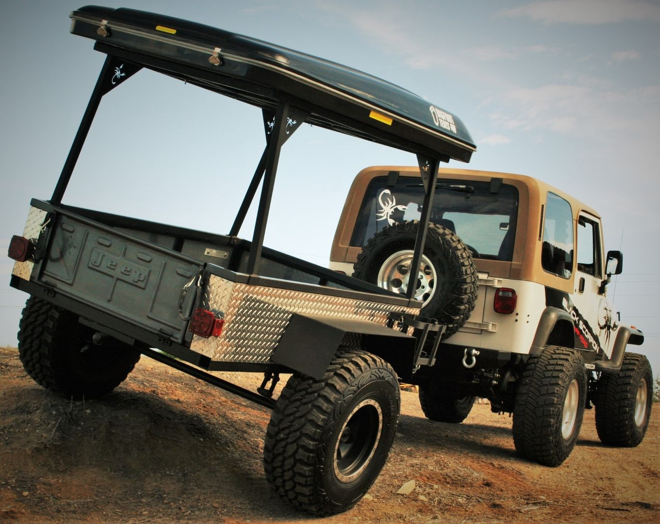 4x4 Off-Road Trailer - Black Scorpion Off-Road / Bigfoot Roof Top Tent & 4x4 Off-Road Trailer - Black Scorpion Off-Road / Bigfoot Roof Top ...