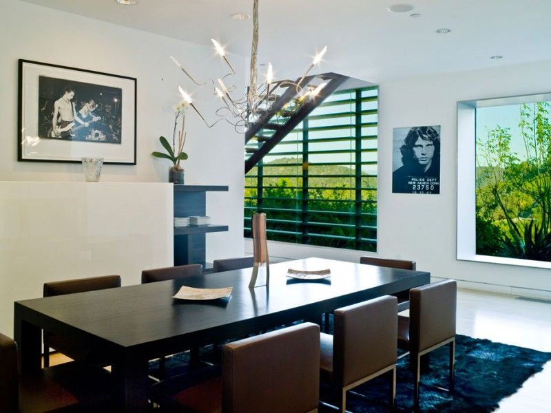 Award Winning Architectural Home Giving Lots of Inspirations: Contemporary Stylish Chandelier Giving Romantic Lights And Decoration To Moder...