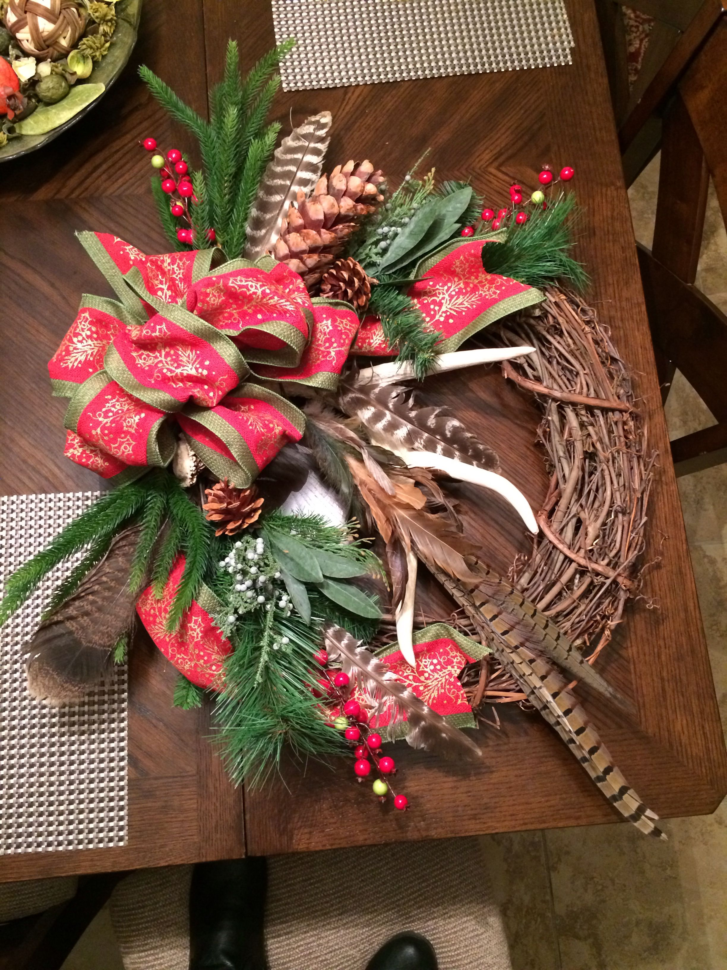 holiday christmas antler wreath - HD 2448×3264
