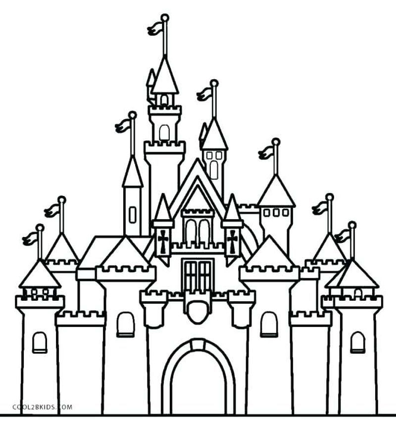 Very Cool Castle Coloring Pages Collection Castle Coloring Page Disney Castle Drawing Castle Pictures