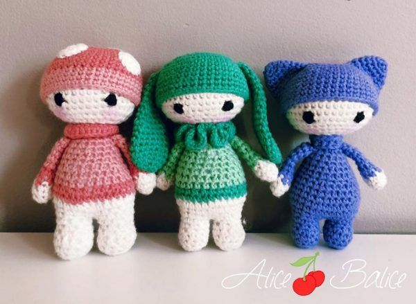 Amigurumi Doll Gratuit : Amigurumi crochet tiny lalylala tuto gratuit crochet