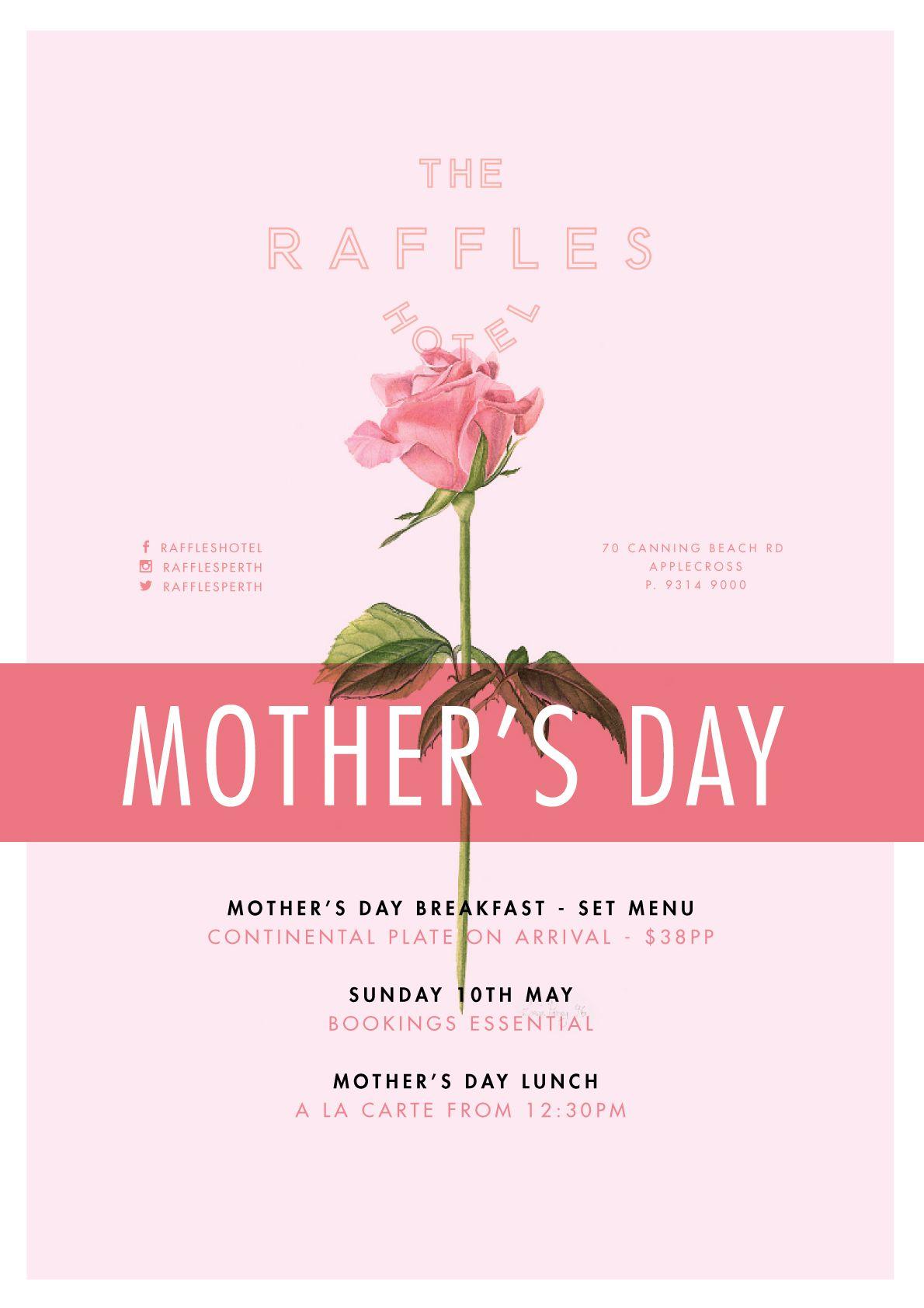 mother 39 s day at raffles hotel user interface design. Black Bedroom Furniture Sets. Home Design Ideas