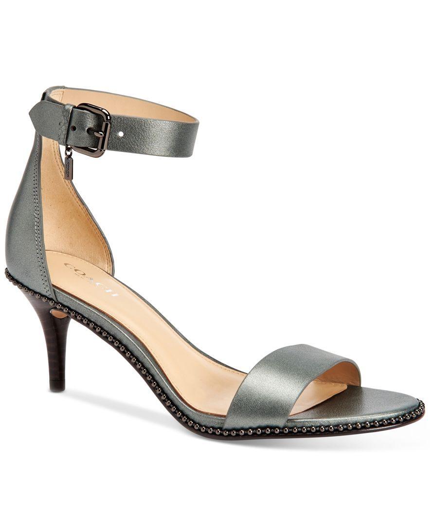 Coach Maude Two Piece Kitten Heel Dress Sandals Kitten Heels Flip Flop Shoes