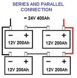 Connecting Batteries In Series Parallel Electrical Engineering Projects Electronic Schematics Solar Battery