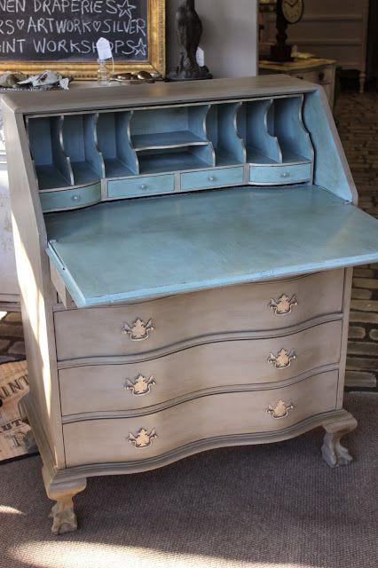 updating a desk with chalk paint chalk paint pinterest m bel moebel streichen und shabby. Black Bedroom Furniture Sets. Home Design Ideas