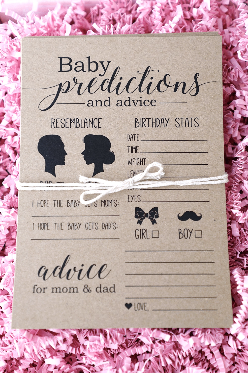Baby Prediction Cards, Baby Predictions, Instant Download, Baby Shower Games, Baby Shower Activities, Printable