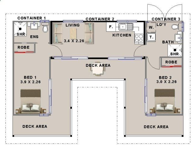 Container house shipping floorplan using containers with bedrooms who else wants simple step by plans to design and build  also rh pinterest