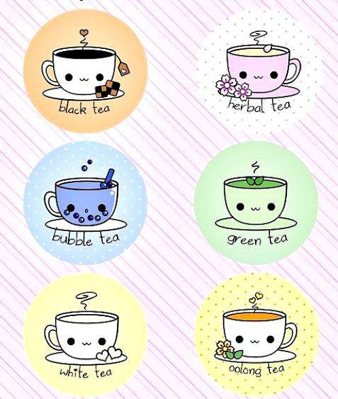 Cute happy friendly tea cups!