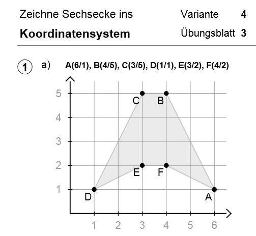 Punkte im Quadratgitter - Arbeitsblätter mit Lösungen | faw ...