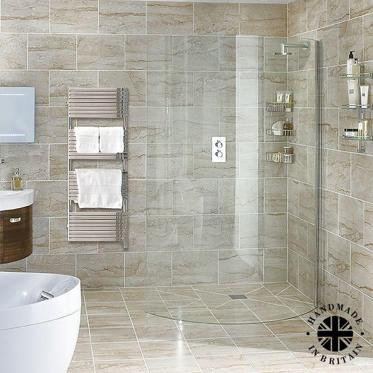 Aqata Spectra Curved Wet Room Walk In Shower Screen #wetrooms