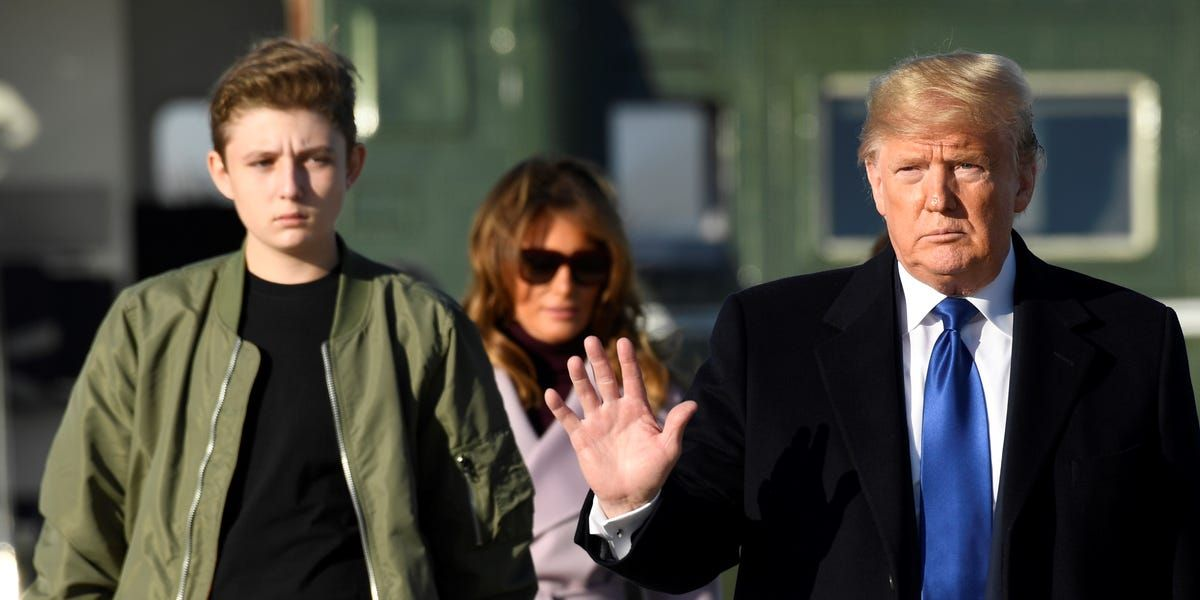 Barron Trump Is Actually Tall And People Are Joking He Might Be A Future Nba Star In 2020