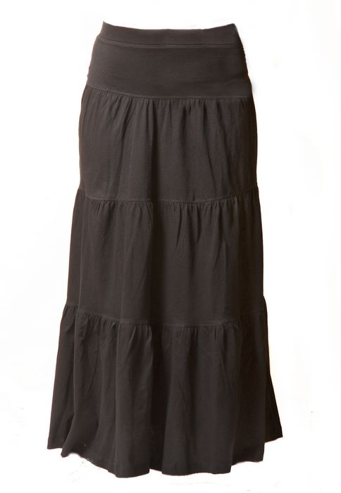 Directional Yet Demure Clothing For The Cool Modern Woman: Long Tiered Skirt, Long Skirts