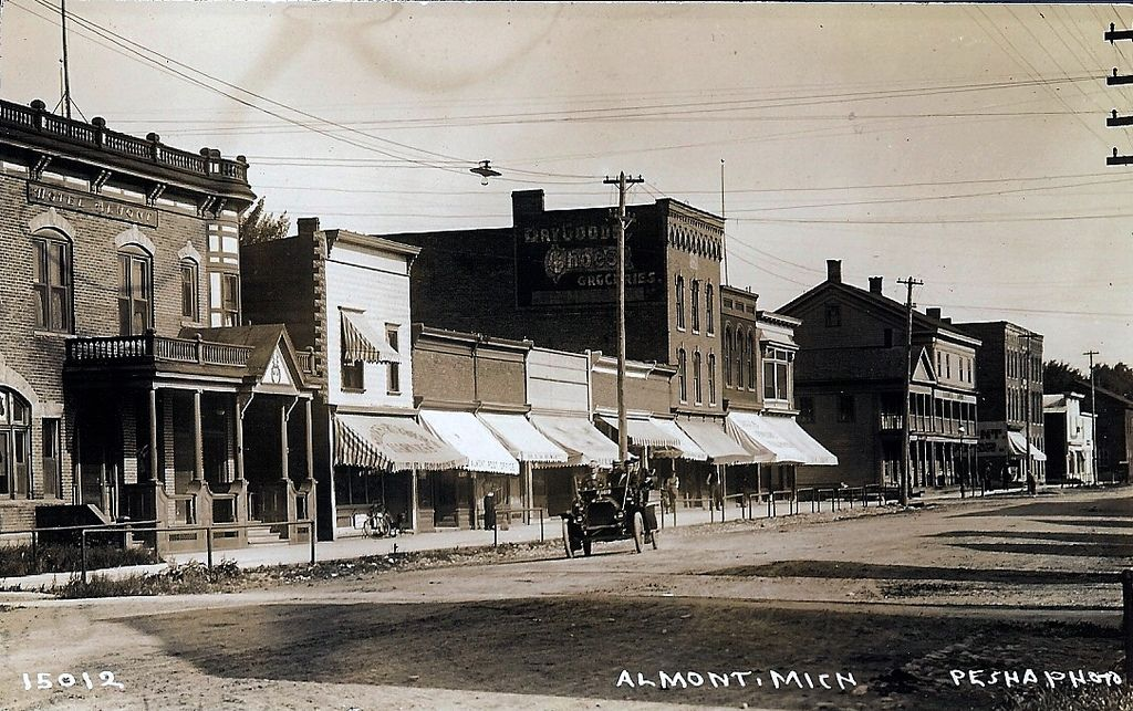 Almont Michigan C1909 Lapeer Michigan Michigan City Vintage