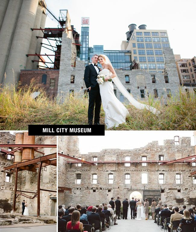 outdoor wedding venues minneapolis%0A Mill City Museum for a wedding