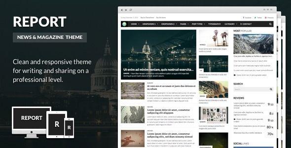 Report - News & Magazine Theme for WordPress - WordpressThemeDB ...