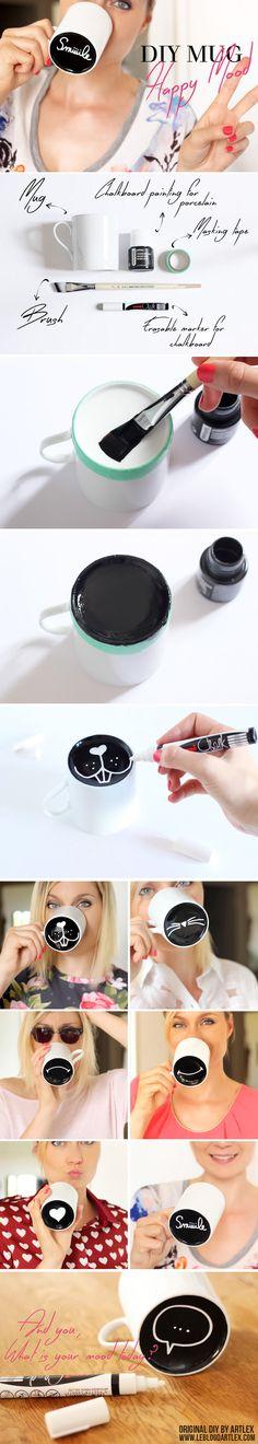 DIY Chalkboard Painted Mug