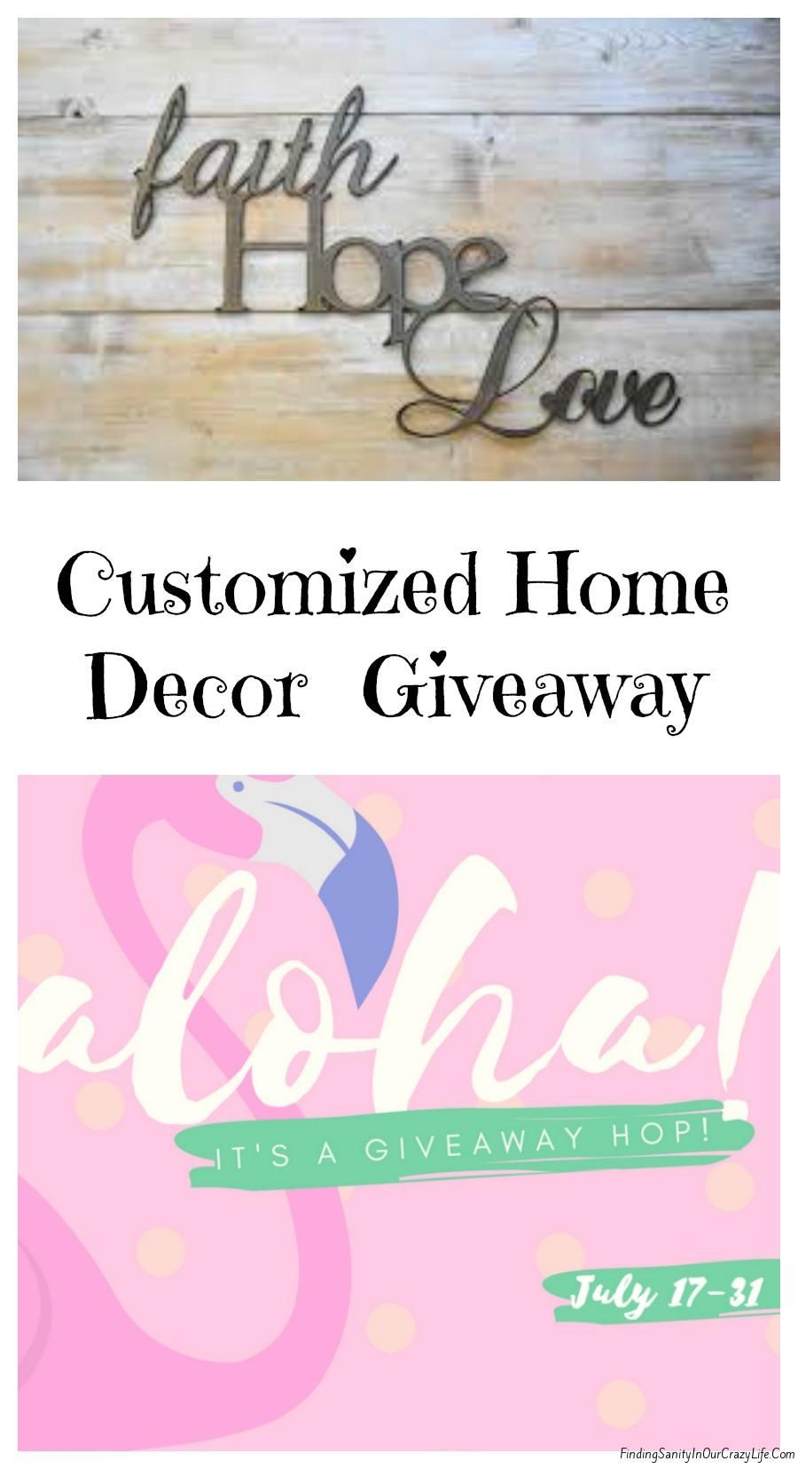 Home Decor Giveaway holiday gift guide home decor hostess gifts Customized Aluminum Home Decor Signs Giveaway