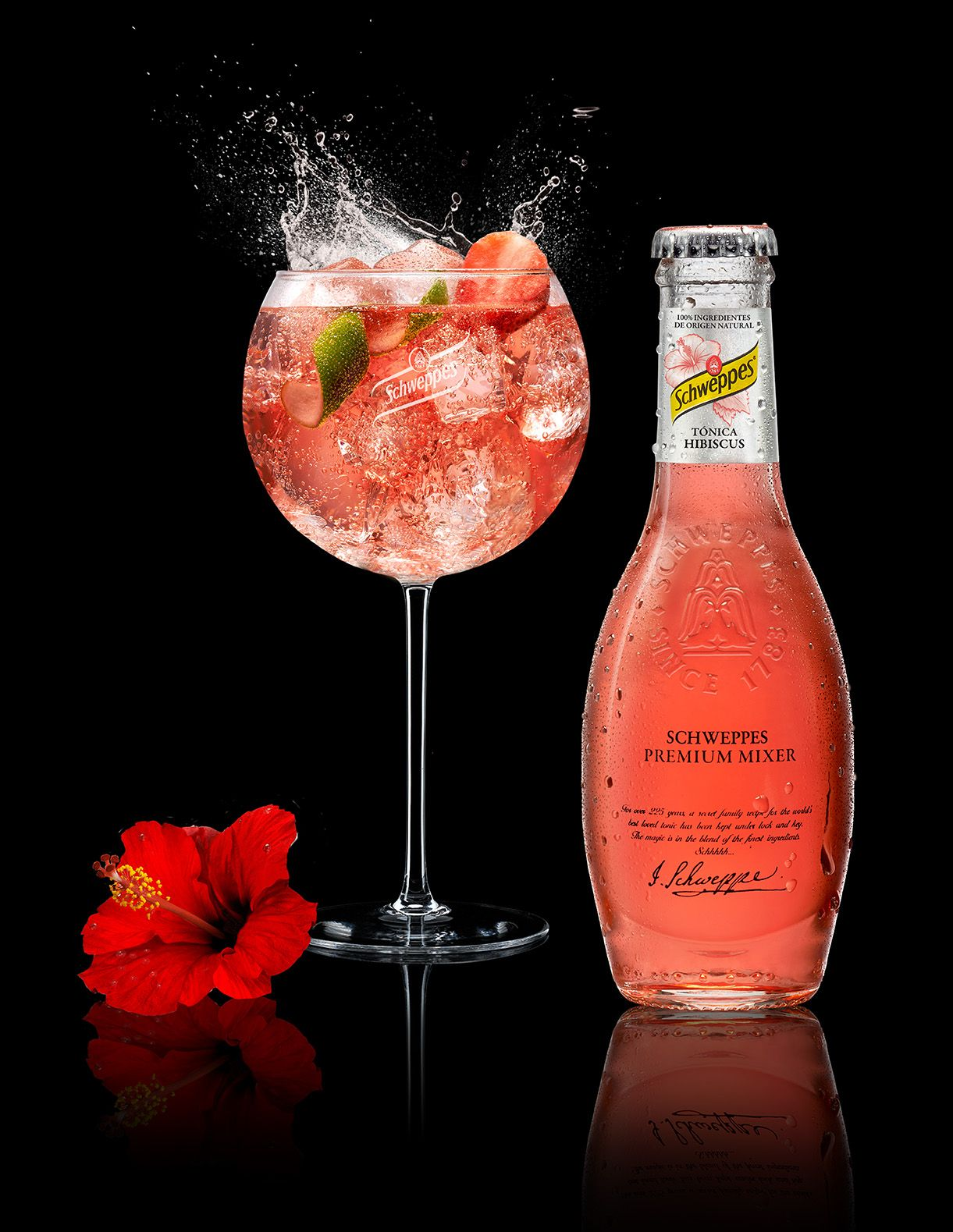 Schweppes Gin Tonic Hibiscus Fruite Chin Chin In 2018