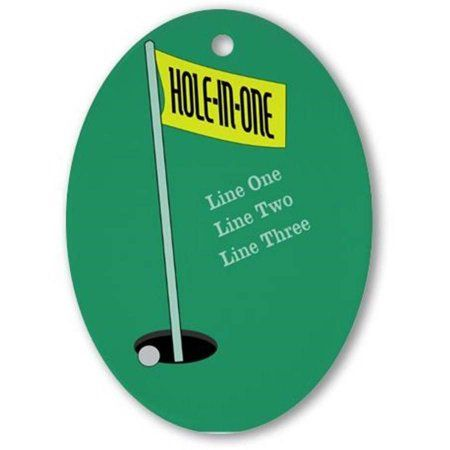CafePress Personalized Golf Hole in One Ornament, Oval, Multicolor