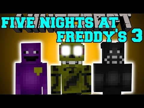 Minecraft Five Nights At Freddy S 3 Mod New Animatronics Pure Evil Mod Showcase Five Night Five Nights At Freddy S Freddy 3